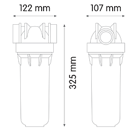 Podpultni čistilnik vode MONO ATLAS 0,3 mcr.