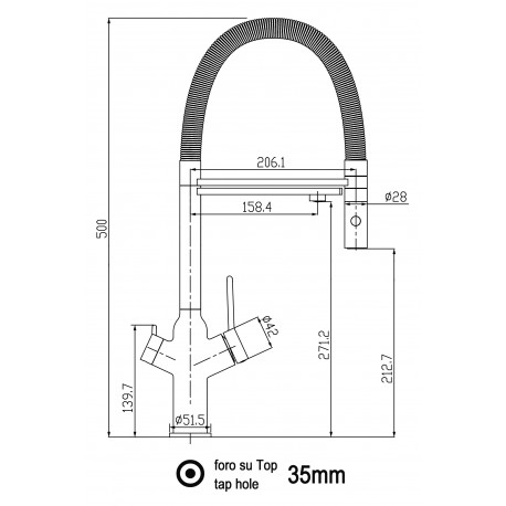 Kuhinjska armatura,pipa – 3v1 za pod pultni sistem filtracije